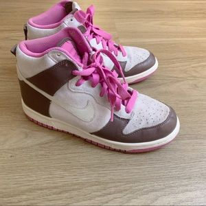 Nike Dunk High pink and brown women sz 7